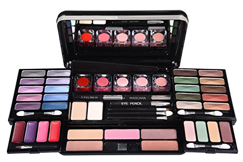 Make Up Palette Set Travel Case Cosmetic Kit Beauty Organizer BriConti 53 Piece
