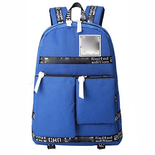 Herren Rucksack Multifunktionstaschen Oxford Rucksack Aufbewahrungsbeutel Mit Mehreren Fächern Sapphire