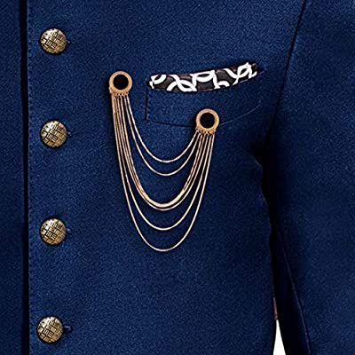 Z Retails Graceful Golden and Medallion Brooch for Men | Sherwani Brooch | Induwestern Suit Brooch.
