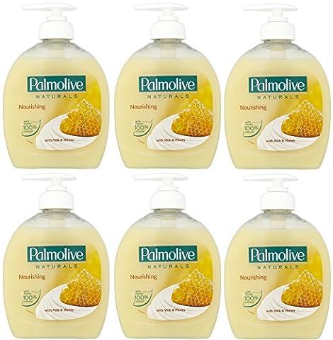 x6 Palmolive Naturals Milk & Honey Handwash