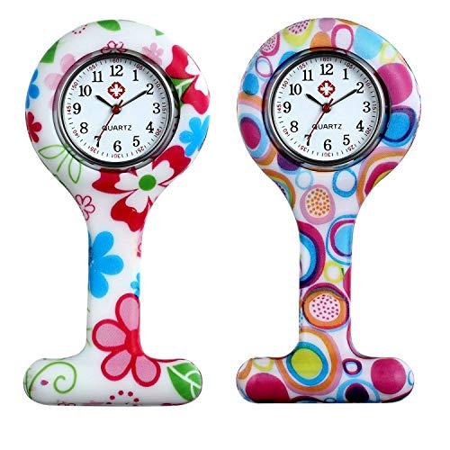 LANCARDO Uhren, Krankenschwester Armbanduhr FOB-Uhr Damen Taschenuhr Analog Quarzuhr aus Legierung LCD037P026 (alle 5 PCS)