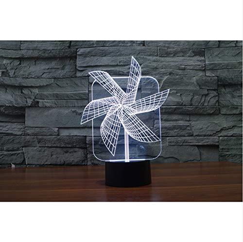 Windrad Illusion Led Nachtlichter Bunte Acryl Tischlampe Party Weihnachtsgeschenk Touch Schalter Visuelle Schlafzimmer Licht