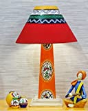 Kalaplanet Warli Handpainted Wooden Lamp