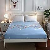PENVEAT Einfarbige Spannbetttücher aus Polyester mit Gummiband Fabrik Heißer Bettwäsche Matratzenbezug Größe 180x200cm 200x220cm, DLH, 120X200X25CM