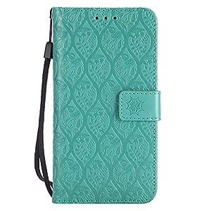 DENDICO LG G6 Hülle, PU Leder Handyhülle, Flip Brieftasche Wallet Tasche Etui TPU Schutzhülle für LG G6