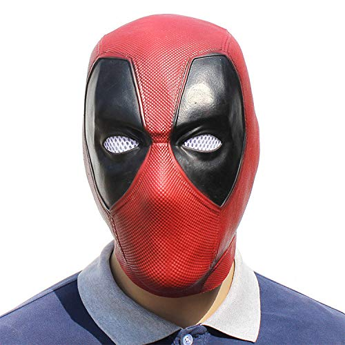 KYOKIM Deadpool Maske Kind Erwachsener Halloween Mottoparty Helm Cosplay Karneva Herren Held Vollen Kopf Deluxe Replik (Deadpool Maske Aus)