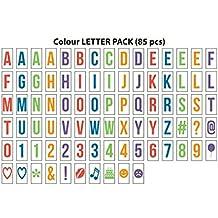 Gadgy ®  Letras Colores | Letter Pack Simbolos Numeros para Cinema LightBox A4 | Set 85 Piezas | Caja de Luz Cinematográfica Senal Luminosa Mesa