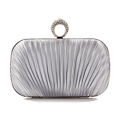 Eysee, Poschette giorno donna viola Silver 16cm*9cm*5.5cm(6.3L*3.5H*2.2W inches) Silver