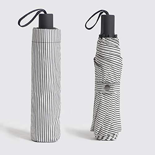 Klarer Regenschirm Dreifacher Schwarzer Kunststoff-Sonnenschutz Anti-UV-Streifen Schirm-Werbe Schirm