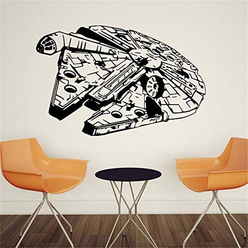 zhuziji Star War Ciondolo in Vinile Rimovibile Living Room Decor Trasferimento Camera da Letto Art Murale Nursery Camera dei Bambini Stickers murali Wall Stick 87x134cm