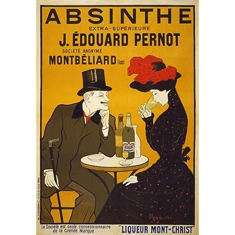 AV59 samfme 57912 cm s francés absenta licor bebidas re-Impresión del cartel del anuncio de reproducción impresa - A5 (148 mm x 210 mm)