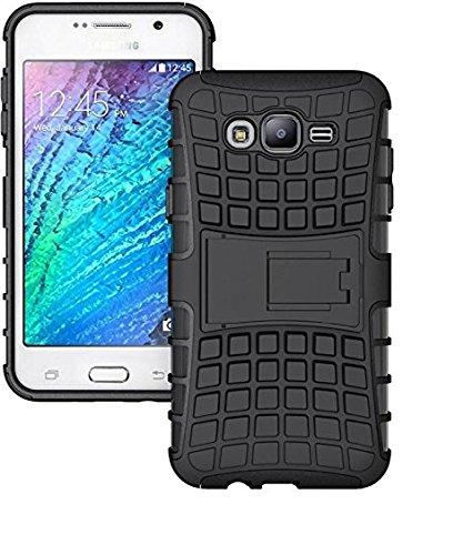 Aarnik Hybrid Kickstand Back Case Cover for Samsung Galaxy J2 2016 (Black)