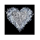 Apalis 97583 Vlies/Fototapete Diamant Herz Quadrat | Vlies Tapete Wandtapete Wandbild Foto 3D Fototapete für Schlafzimmer Wohnzimmer Küche | Größe: 192x192 cm