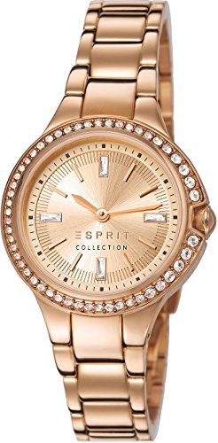 Esprit Collection Damen-Armbanduhr Apheleia Analog Quarz Edelstahl EL102042F02
