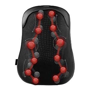 Naipo Cuscino Massaggiante Elettronico Massaggiatore Cervicale Shiatsu con Funzione di S-Track, Massaggio di Thai Passo e Calore per Tutta, Alta e Bassa della Schiena e Vita