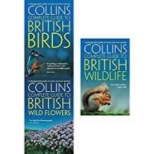 Collins complete guide to british birds, wild flowers and wildlife 3 books collection set