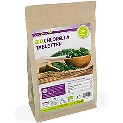 Bio Chlorella Tabletten 500g | 400mg pro Tablette | ca. 1250 Presslinge | Aus Ökologischen Anbau | Rohkost im Zippbeutel | Premium Qualität