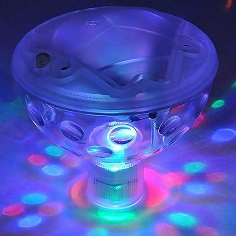 Decrescent RGB Resplandor de la Luz Con 5 Patrones de Luz LED de Color Cambio de la Luz del Disco Para el Estanque Exterior Spa o Bañera de Hidromasaje
