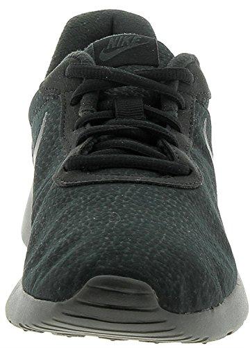 Nike Herren Tanjun Premium Schwarz Leder/Synthetik Sneaker Black / White