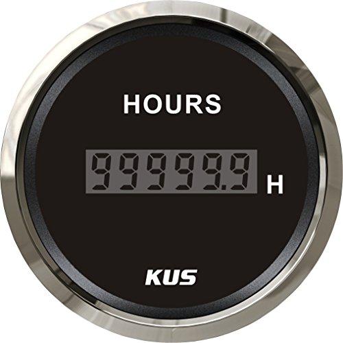 Kus gewährleistet Stunde Meter Gauge mit Hintergrundbeleuchtung 52mm (5,1cm) 12V/24V (12 V-meter)