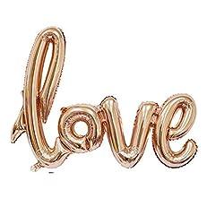 Globos letras doradas LOVE