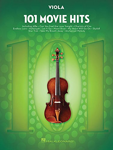 101 Movie Hits For Viola: Noten, Sammelband für Viola