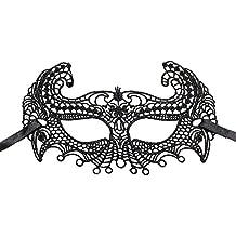 Hosaire 1x Máscara de Encaje,Mujeres Antifaz para Mascarada Veneciano Carnaval Halloween Fiesta de Baile