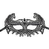 Hosaire 1x Máscara de Encaje,Mujeres Antifaz para Mascarada Veneciano Carnaval Halloween Fiesta de Baile Disfraces Juguetes para Pareja (Style3)