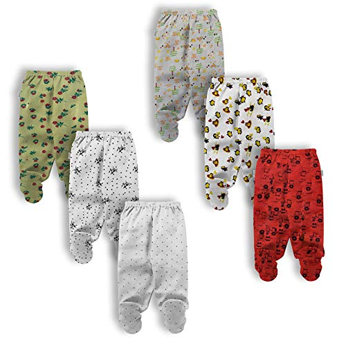 Nammababy Unisex Kid's Pajama with Booties 2196858685867 Multicolor 6-9 months
