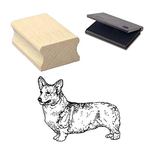 « WELSH CORGI PEMBROKE » Motivstempel mit Kissen Scrapbooking - Embossing - Basteln - Hund -