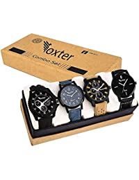 Foxter Combo of 4 Analogue Multicolor Dial and Stylish Balt Men's and Boy's Watch