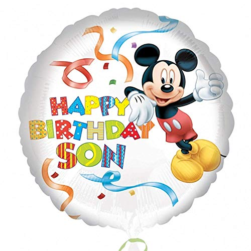 Amscan Mickey Mouse Happy Birthday Son Standard HX Foil Balloons (Mickey Happy Birthday)