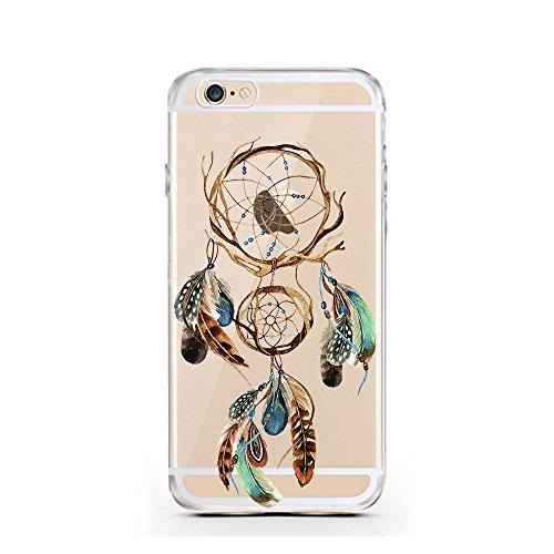 iPhone 7 Hülle von licaso® für das Apple iPhone 7 aus TPU Silikon Panda 2 Panda-Bär Schwarz Weiß Bärchen Muster ultra-dünn schützt Dein iPhone 7 & ist stylisch Case Design Schutzhülle Bumper in einem  Traumfänger