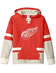 """Detroit Red Wings CCM NHL """"Hit the Boards"""" Youth Jeunes Vintage Jersey Maillot SweatShirt Chemise"""