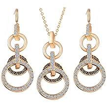 GYJUN Schmuck Halskette Ohrringe AAA Zirkonia tägliche Legierung 1set Frauen 8e532f4b84