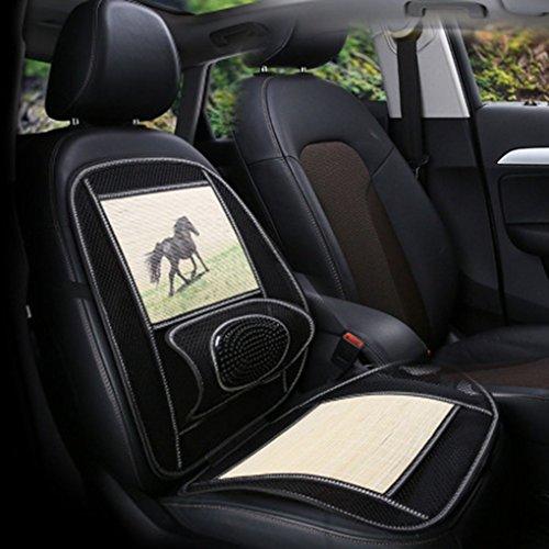 Atmungsaktive Mesh Stoff Bamboo Fahrzeugsitz Waist Schutzkissen Cartoon Tiermuster Selbstsitzkissen Matten Regard