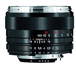 Carl Zeiss Planar T* 1.4/50 - Kameraobjektive (weit, SLR, 7/6, 1,4-16, Nikon F, Schwarz)