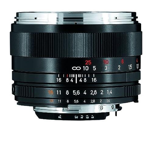 Carl Zeiss Planar T* 1.4/50 - Kameraobjektive (weit, SLR, 7/6, 1,4 - 16, Nikon F, Schwarz)