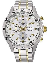 978e323cbb69 Seiko Reloj Cronógrafo para Hombre de Cuarzo con Correa en Acero Inoxidable  SKS643P1