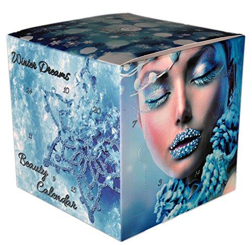 CUBE WINTER DREAM Adventskalender mit Schminke - Würfel Kosmetik Adventskalender für Frauen - von matrasa