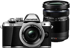 Olympus OM-D E-M10 MARK II Appareil Photo Numérique 17.2 Mpix - Argent - Objectifs 14-42 mm et 40-150 mm