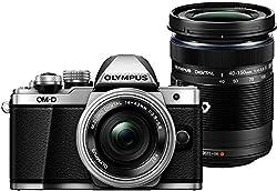 Olympus OM-D E-M10 Mark II Kit, Micro Four Thirds Systemkamera, M.Zuiko Digital ED 14-42 mm F3.5-5.6 EZ Zoomobjektiv und M.Zuiko Digital ED 40-150 mm F4-5.6 R Telezoom, silber