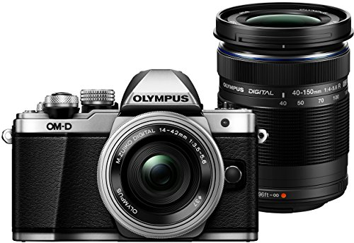 OLYMPUS E-M10 MARK-II - CAMARA EVIL DE 16 1 MP (PANTALLA 3  ESTABILIZADOR OPTICO  VIDEO FULL HD  WIFI)  PLATA Y NEGRO - KIT CUERPO CAMARA CON M-ZUIKO 14 - 42 MM PANCAKE Y DOUBLE ZOOM 40 - 150 MM IIR