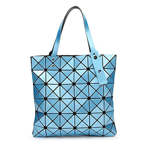 Lady 6 * 6 Forma Romboidale Pacchetto Geometrico Cubo Piegatura Varietà Sacchetto Di Spalla Moda Casuale Borsa Skyblue