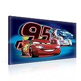 Disney Cars Lightning McQueen Todoroki Leinwand Bilder (PPD401O1FW) - Wallsticker Warehouse - Size O1 - 100cm x 75cm - 230g/m2 Canvas - 1 Piece