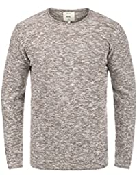Redefined Rebel Millard Herren Strickpullover Feinstrick Pullover mit  Rundhals und Melierung aus 100% Baumwolle 7b6a29414a