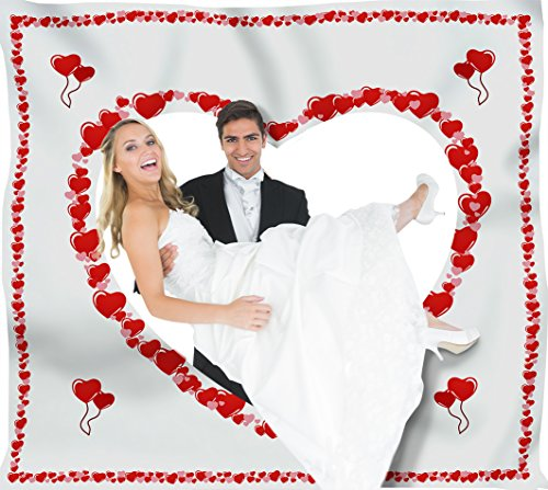 sschneiden für das Brautpaar inkl. 2 Nagelscheren. Bedrucktes Bettlaken, das Hochzeitsspiel für Braut und Bräutigam. (Herz Zum Ausschneiden)