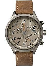 Timex Herren-Armbanduhr Analog Quarz Leder TW2P78900