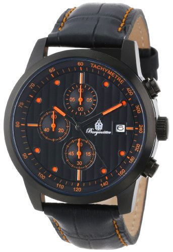 Burgmeister Armbanduhr für Herren mit Analog-Anzeige, Quarz-Uhr und Lederarmband - Wasserdichte Herrenuhr mit zeitlosem, schickem Design - klassische Uhr für Männer - BM607-620C Maui