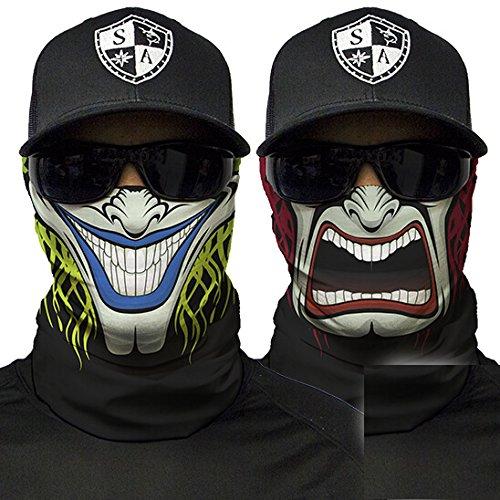 Sa fishing company, passamontagna, bandana, scaldacollo per sciare, andare in motocicletta, da utilizzare anche come maschera per halloween, two sided